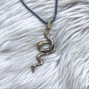 Jewelry - Snake Statement Rhinestone Necklace